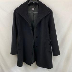CINZIA ROCCA Black Wool Coat - Size 6